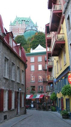 Petit Champlain, a neighbourhood in Quebec City, is the oldest commercial district in North America ~ Quebec, Canada