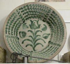 ESTUPENDO LEBRILLO GRANADINO DE FAJALAUZA S.XIX (Antigüedades - Porcelanas y Cerámicas - España - Lebrillos Antiguos)