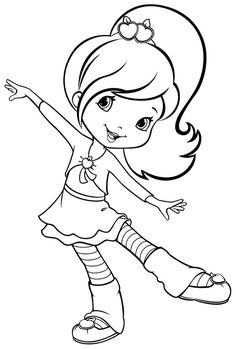 Free Printable Coloring Pages Cartoon Strawberry Shortcake Plum Puddin For  Boys U0026 Girls