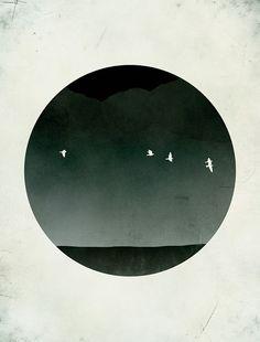 Schwarz und weiß Mitte Jahrhundert Modern Kunstdruck, Minimalist Poster, abstrakte Landschaft
