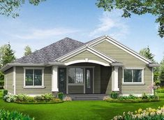 Simple Craftsman Ranch with Options - 23260JD thumb - 02