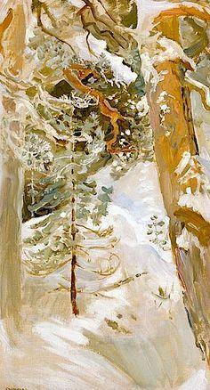 lovely, serene yet full of mystery Gallen-Kallela, Akseli Snowscape, 1900 Nordic Art, Art Painting, Landscape Paintings, Art Museum, Winter Landscape, Painting, Winter Painting, Winter Art, Landscape Art