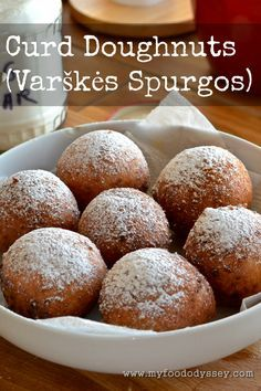 These traditional Lithuanian doughnuts (known as varškės spurgos) are made with curd cheese. So delicious!