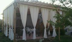pergola design ideen gartenmöbel gardinen