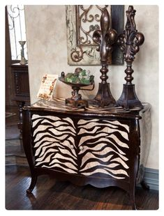 Gorgeous animal print chest of drawers