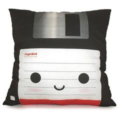 Adorable Floppy Disc Pillow. I have a huge collection of floppy discs.