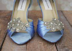 Wedding Shoes  Cornflower Peep Toe Wedding by DesignYourPedestal, $285.00