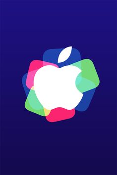 Colorful Apple Wallpaper. #apple #logo #iphone #wallpaper