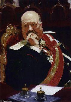 Ilya Repin >> Portrait of Vice Minister of the Interior, cavalry ...