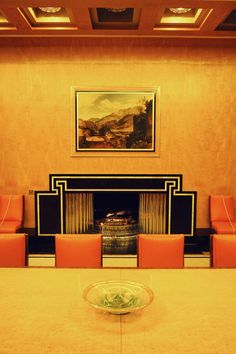 This place was the best inspiration for art deco interiors! See more in my blog post... See pattern on fireplace