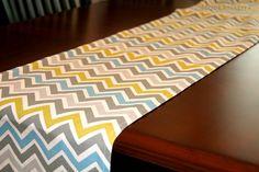 Premier Prints Table Runner- Summerland Zoom Zoom Chevron- 13x72. $19.95, via Etsy.