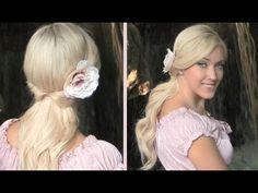 Romantic Half Updo With Curls