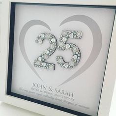 Silver Anniversary Gift 25th Wedding Anniversary frame Anniversary Gift For Friends Silver Anniversary Gifts & 11 Best DIY Wedding Anniversary Gifts images | DIY Wedding Homemade ...