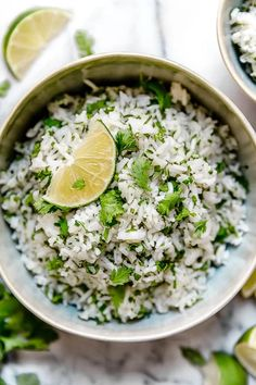I am a huge fan of the rice at Chipotle's. Here is my copycat version for their cilantro lime rice, it tastes just like the real thing! Of course, I used less oil. Makes a wonderful side dish for chicken, beef or pork. Rice Recipes, Mexican Food Recipes, Cooking Recipes, Healthy Recipes, Mexican Dishes, Pork Recipes, Healthy Eats, Delicious Recipes, Dinner Recipes