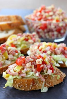 This Italian Sub Bruschetta has all the flavors of your favorite sub sandwich! Perfect for appetizers, tailgating or a fun dinner at home!