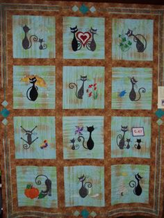 Best quilting designs for blocks patchwork ideas Cat Celebrating, Twin Quilt Size, The Quilt Show, Quilted Throw Blanket, Patch Aplique, Cat Quilt, Cat Crafts, Applique Quilts, Baby Quilts