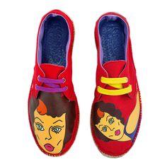 Las Kissme Crawford. #espadrilles #shoes #zapatillas #calzado #moda #popart #diseño Tonos rojo y pin up. http://www.espadrilleskissme.com/es/calzado-para-mujer/8-Crawford-espadrilles-para-mujer-kissme.html