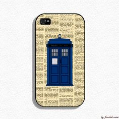 Iphone 4s Case  VIntage Tardis  Doctor Who iphone by fundakcases, $16.00
