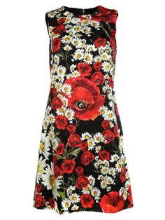 DOLCE & GABBANA Dolce & Gabbana Daisy And Poppy Print Dress. #dolcegabbana #cloth #dresses