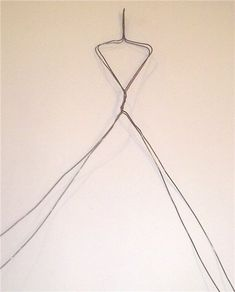 step 1, twist wire for body, the head and arms  will be made with another armature