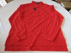 Polo Ralph Lauren The Mesh shirt long sleeve Men's 4386425 3XB Big RL2000RE Red