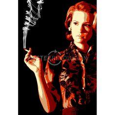 Betty Smoking Pop Art Television Poster