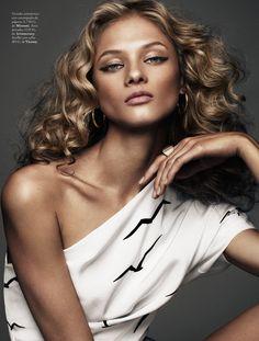 anna selezneva model5 Anna Selezneva is Rock Glam for Elle Spain by Xavi Gordo