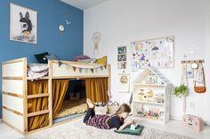 15 x Inspiratie om het Ikea Kura bed zelf te pimpen ikeatoddlerroom Girl Room, Girls Bedroom, Kid Bedrooms, Kura Ikea, Kura Bed Hack, Ikea Hack, Kids Room Design, Kid Spaces, Kid Beds
