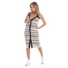 f4370e7c4 Vestido Amamentação Tricot Cláudia - Listras. Agora Sou Mãe