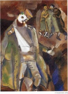 Wounded Soldier - Marc Chagall