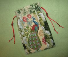 Tarot Card Bag Peacock Pride  6X9 by wildercraft on Etsy. I want it.