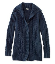 Double L Mixed-Cable Sweater, Button-Front Cardigannavy xsmall Cable  Sweater, Clothes 158c5026e2cd