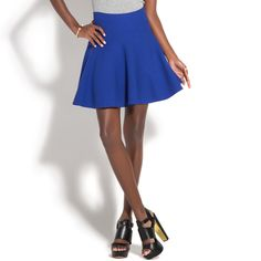 Fit And Flare Knee Length Skirt - ShoeDazzle