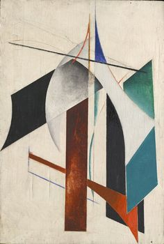 Alexander Rodchenko (Russian: 1891 – 1956), Non-objective composition, 1917. Oil on canvas, 78 x 50 cm, Ivanovo Regional Art Museum, Russia.