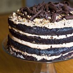 Chocolate Cake With Hazelnut Mousse