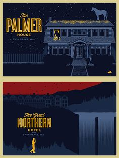TWIN PEAKS RETURN Art 4X6 Postcard THE PALMER HOUSE poster print rockets are red