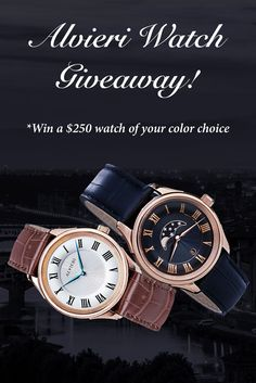 Want to WIN this Alvieri watch (ERV: $250)? I just entered and you can too. It is built with a sapphire crystal, a Swiss Parts movement, and an Italian leather strap. Giveaway ends May 9th. #alvieriwatches