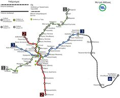 TRAVEL'IN GREECE I Athens Metro map