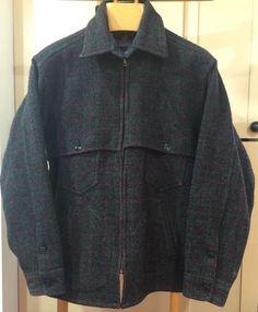 Johnson Woolen Mills Jac Shirt Winter Wool USA Adirondack Plaid DCJS Mens XL   eBay