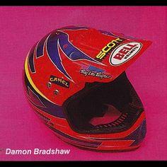 Easily my least favorite of The Beast's many custom lids - Damon Bradshaw's 1991 Troy Lee Designs Bell Helmet. #CustomHelmetsRule #Motocross #Supercross #TheBeastFromTheEast #90sMoto