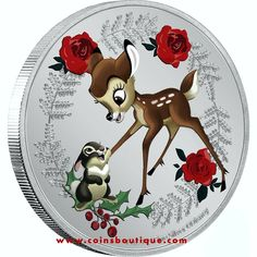Disney Christmas Bambi and Thumper 1 oz silver coin Niue 2020 Star Wars Christmas, Disney Christmas, Christmas Gifts, Mint Coins, Silver Coins, Bambi And Thumper, Kino Film, Effigy, Coin Collecting