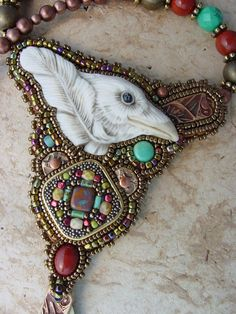 White Raven Necklace by HeidiKummliDesigns on Etsy, $176.00