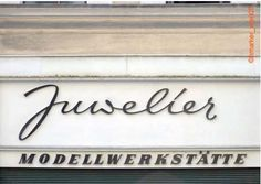 vintage typographic Viennese storefronts