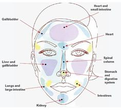 What your pimples tell you. Matching location of pimple to problems areas in the body.