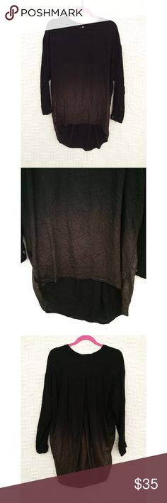 Young Fabulous & Broke Ombré Tunic Top Young Fabulous & Broke YFB black and bronze ombré long sleeve tunic tee / tunic top.  Hole on the bottom left; isn't very noticeable when worn.  Size medium.  No trades / modeling.  {closet1} Young Fabulous & Broke Tops Tunics