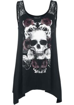 Loose Skull Top - Gothicana by EMP Toppi