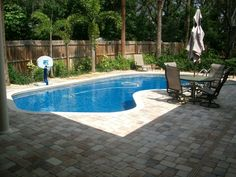 Backyard Pool Designs With Patio Decorations Ideas