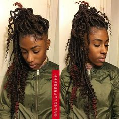 protective styles dread locs goddess locs for summer