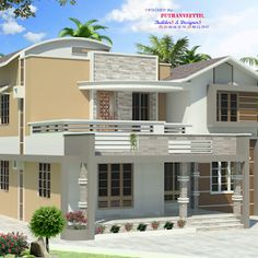 Latest Model 4 Bedroom Home in 27 Lakhs with 1700 Square Feet, Fusion Design Home Plan with 1700 Square Feet in 27 Lakhs, Budget 4 Bedroom Indian Home Plan in 27 Lakhs Indian Home Design, Kerala House Design, Duplex House Design, House Front Design, Free Floor Plans, House Floor Plans, Indian House Plans, Fusion Design, 4 Bedroom House Plans