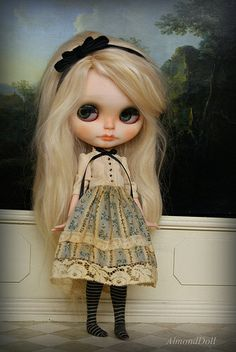 Alice in her new dress.